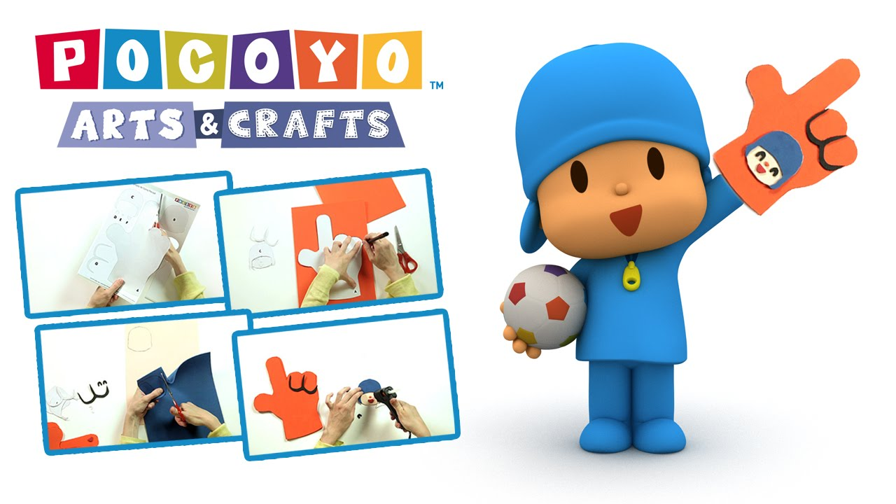Pocoyo arts crafts eva foam finger to cheer your team for Cheerleading arts and crafts