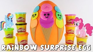 Rainbow Ice Cream Playdoh Surprise Egg | Toy Surprises by DCTC Amy Jo
