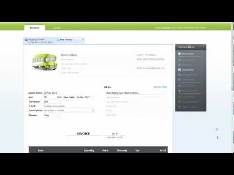 How to Create an Invoice with Invoicebus