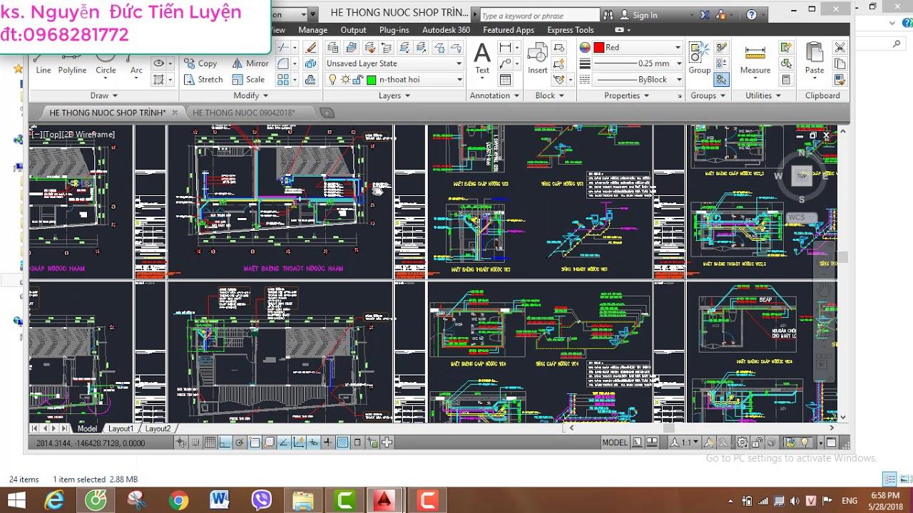 VẼ SHOPDRAWING CẤP THOÁT NƯỚC CHO NHÀ Ở|Kỹ Thuật Thi Công Cơ Điện MECHANICAL ENGINEERING