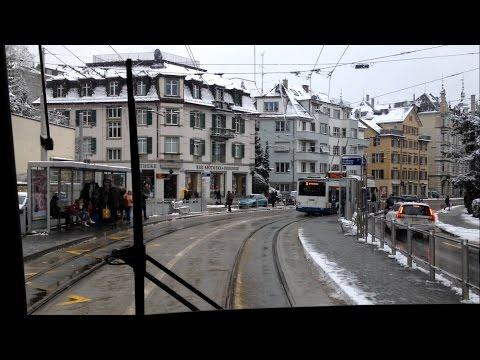 VBZ Zürich Tram   Linie 9: Hirzenbach - Heuried