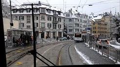 VBZ Zürich Tram   Linie 9: Hirzenbach - Heuried   Bombardier Be 5/6 ''Cobra''