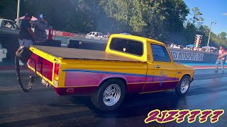 A 4.3 V6 CHEVY ENGINE, A TURBO AND A VERY FAST  LUV TRUCK!