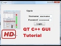 [Qt C++ Tutorial for beginners] QT C++ GUI Tutorial 13- Creating connection open and close function
