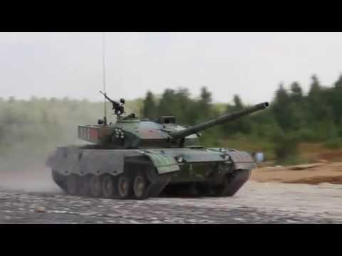 Tank Biathlon - 2014. Chinese tank is following the leaders