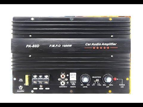 PA-80D 1000W Amplifier Unboxing (12V 1000W Mono Car Audio Power Amplifier) BEST BUDGET CAR AMPLIFIER