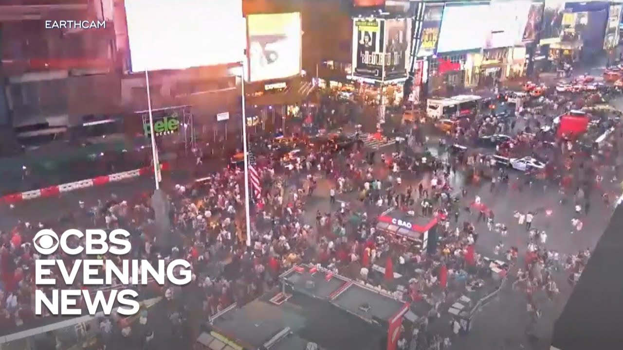 Motorcycle backfire mistaken for gunshots sparks fear in Times Square