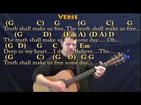 We Shall Overcome (HYMN) Guitar Cover In G With Chords/Lyrics
