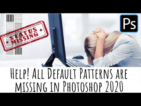 Photoshop 2020 - Help! my patterns are gone! - Find and use legacy patterns in Photoshop