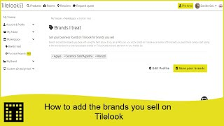 How to add the brands you sell on Tilelook