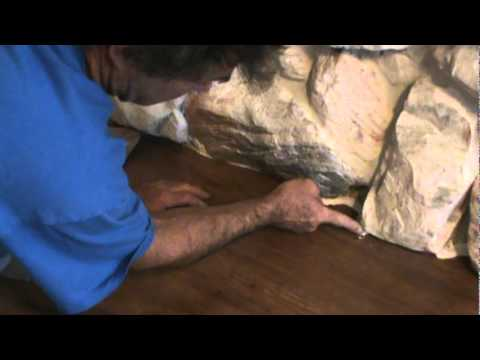 Caulking Wood Laminate Flooring Near Rock Wall Youtube