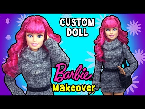Barbie Makeover - DIY Custom Doll Hairstyles and Bangs