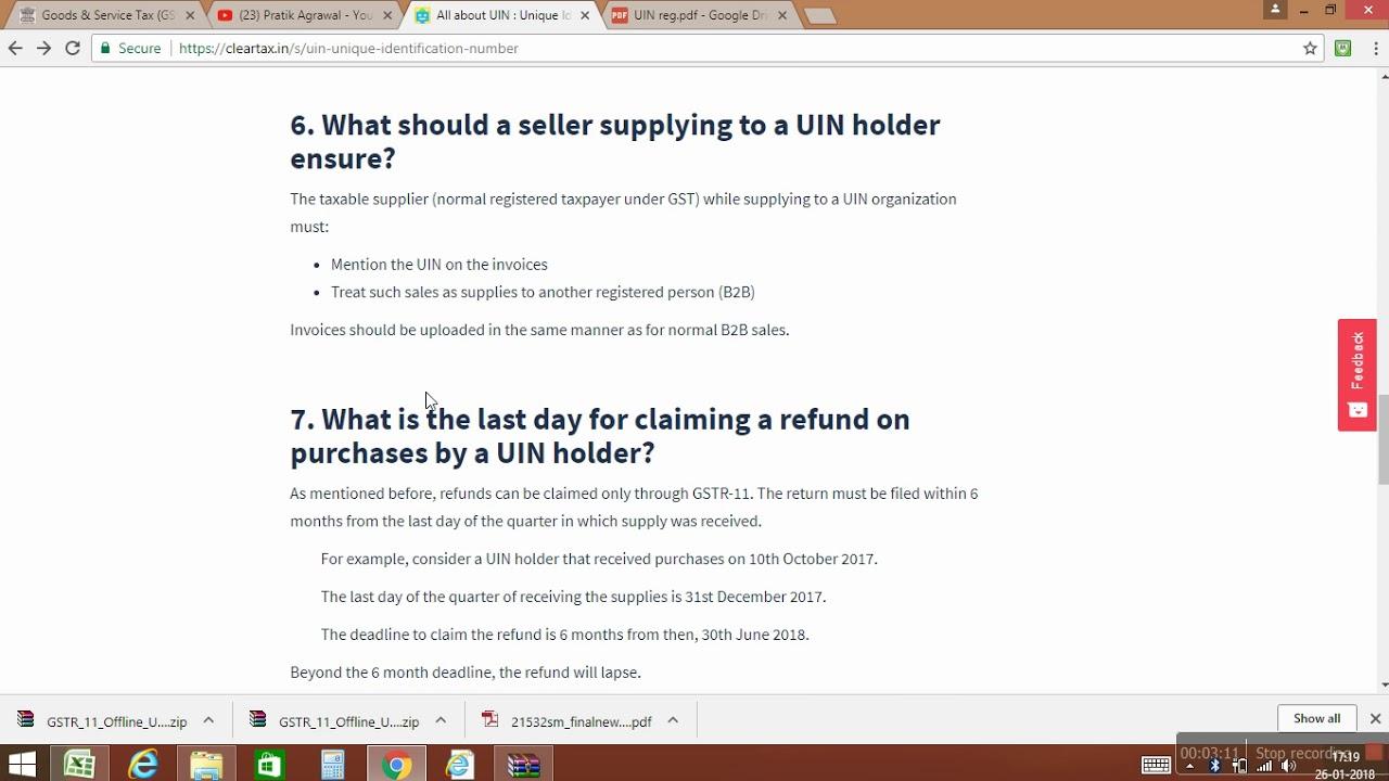 Detailed Clarification Regarding UIN under GST
