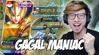SKIN EPIC ZILONG WADADAW HAMPIR MANIAC - MOBILE LEGENDS INDONESIA