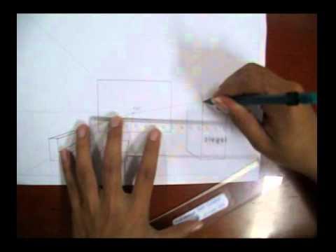 video menggambar perspektif Interior