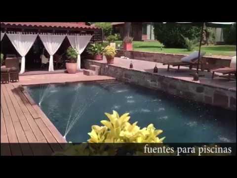 Fuentes para piscinas sin instalaci n chorros y cascadas for Chorros para piscinas