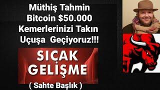Bitcoin  $50.000 'a gidiyor!!! Roket hızı  ile !! Hepimiz zengin oluyoruz!!#btc #eth #bitcoin