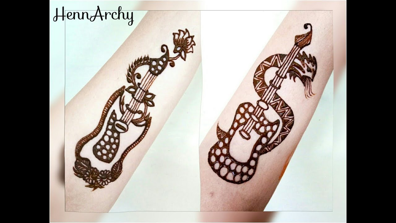 Guitar Henna Tattoos Girls Vs Boys By Hennarchy Youtube