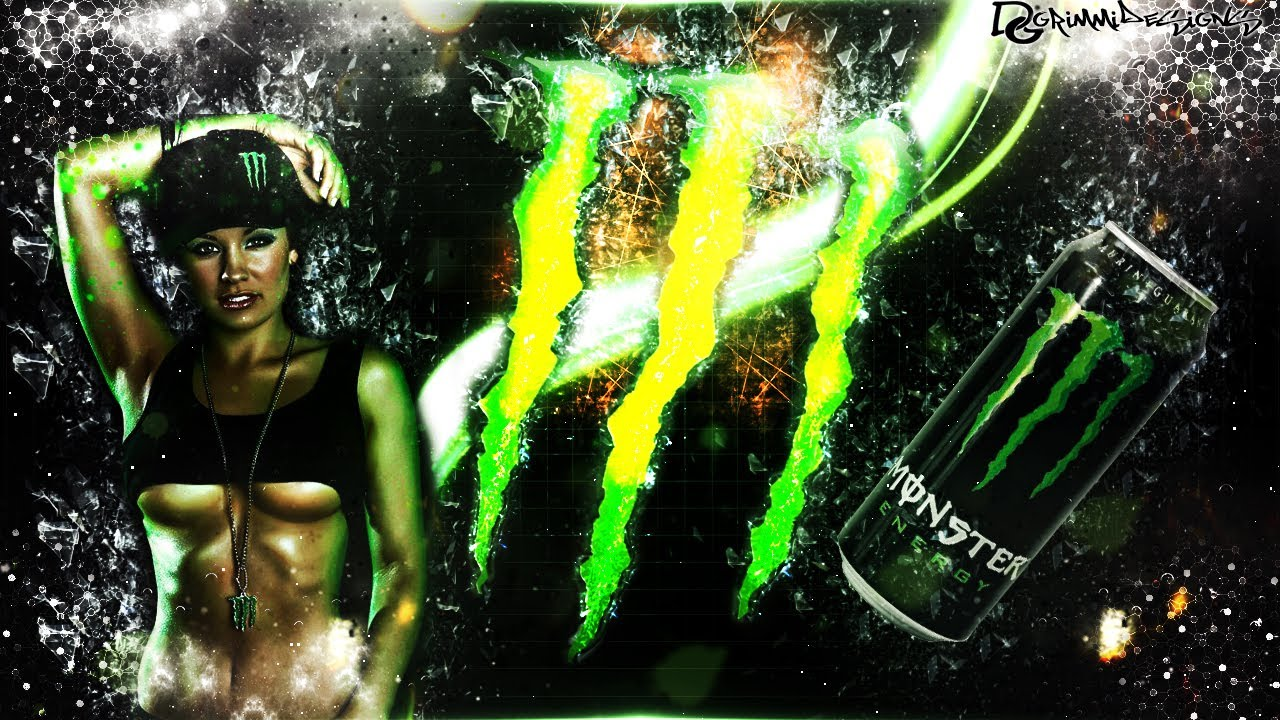 speedart | monster energy wallpaper |grimmidesigns - youtube