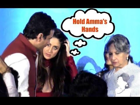 Kareena Kapoor SWEET GESTURE Of Asking Saif To Hold Sharmila Tagore Hands thumbnail