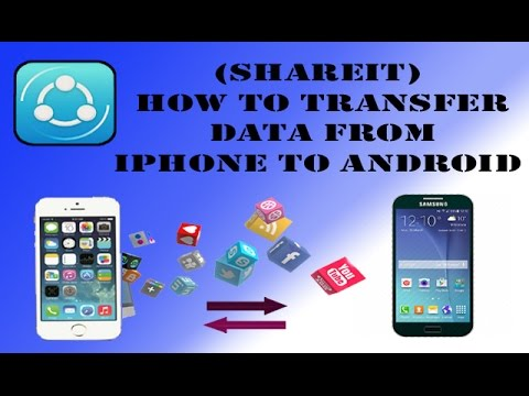 transfer iphone to android shareit how to transfer data from iphone to android 16291