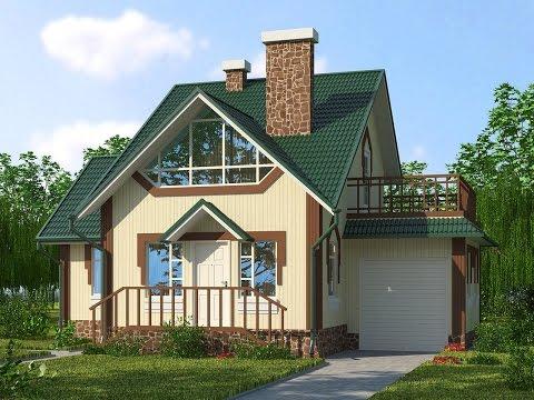 4M278 Проект небольшого одноэтажного дома с боковым входом