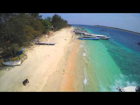 Gili islands in Indonesia from above in 4K!!