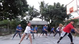 Hula hoop zumba dance under carlo and rochelle
