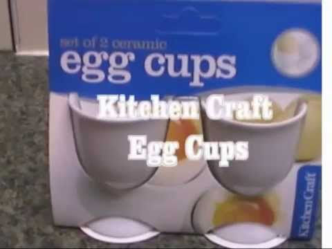 Kitchen Craft Set Of 2 Ceramic Egg Cups Close Look Youtube