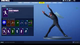 *LEAKED* DANCE THERAPY DANCE SHOWCASED WITH SOME RANDOM SKINS xd (Fortnite)