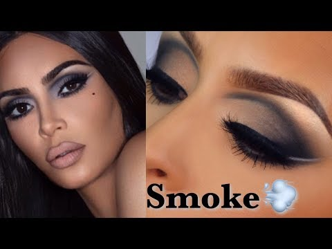 Kim kardashian makeup l Recreating the matte smoke makeup