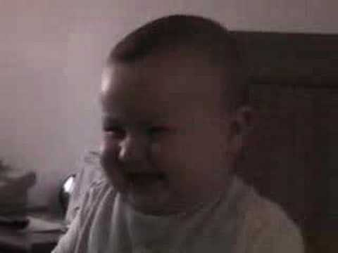 Baby busting-a-gut laughing!