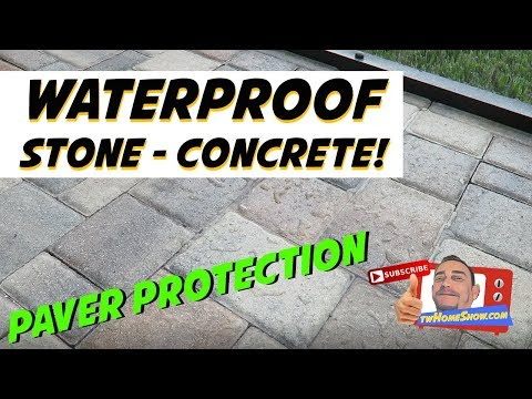WATERPROOF TEST!  SEAL Your PAVERS - DRIVEWAY: PREVENT MILDEW and MOLD