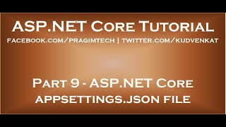 ASP NET Core appsettings json file