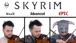 5 levels of Skyrim Music: Noob to Epic