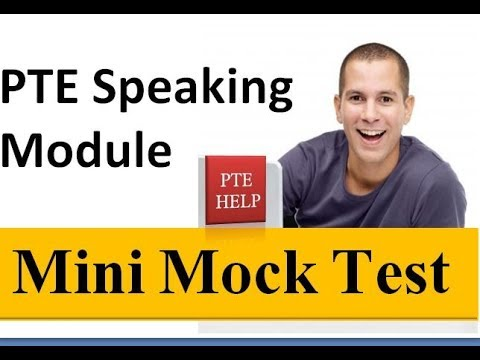 PTE Speaking Mini Mock Test 1 | Enables you to practice quickly