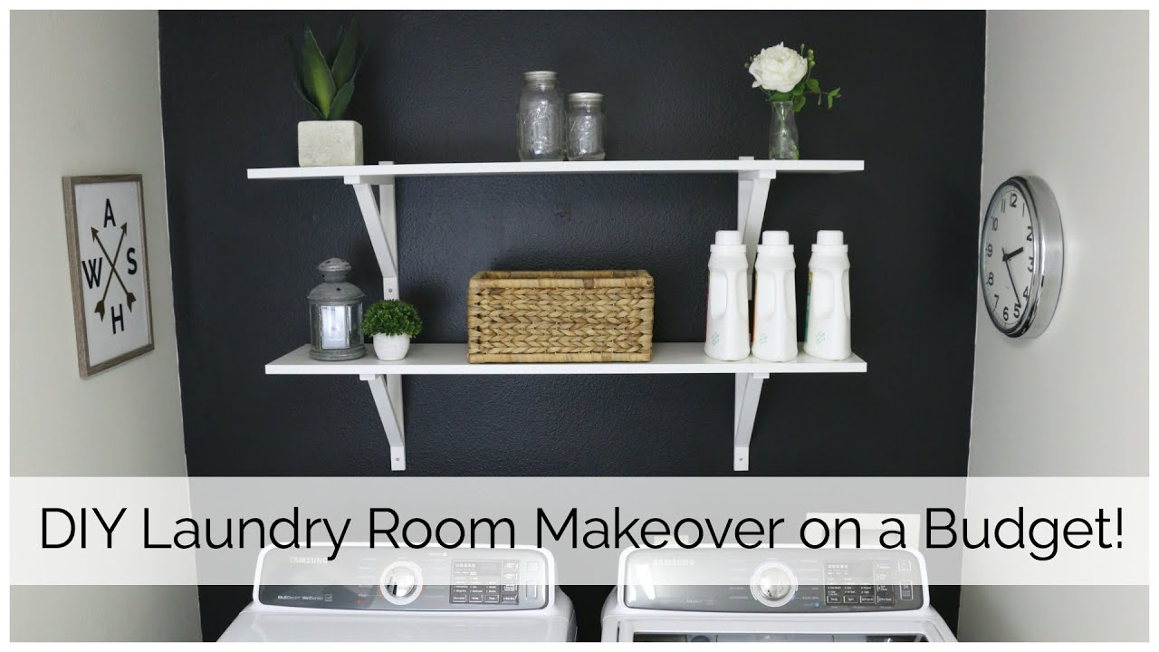 laundry room makeover on a budget - youtube