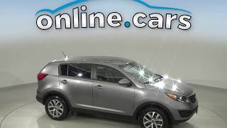 A14748PT Used 2016 Kia Sportage Gray SUV Test Drive, Review, For Sale