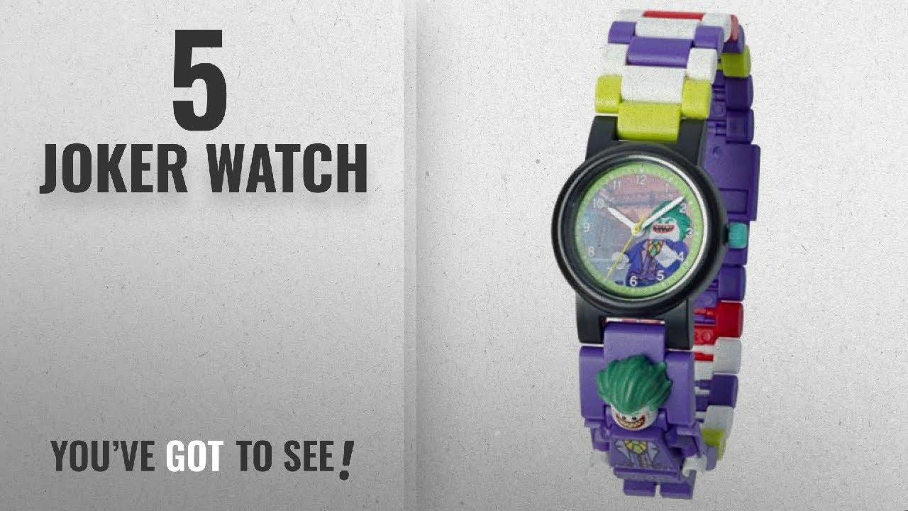 acaa0b0a402 Top 10 Joker Watch [2018]: LEGO Batman Movie 8020851 The Joker Kids Minifigure  Link Buildable Watch