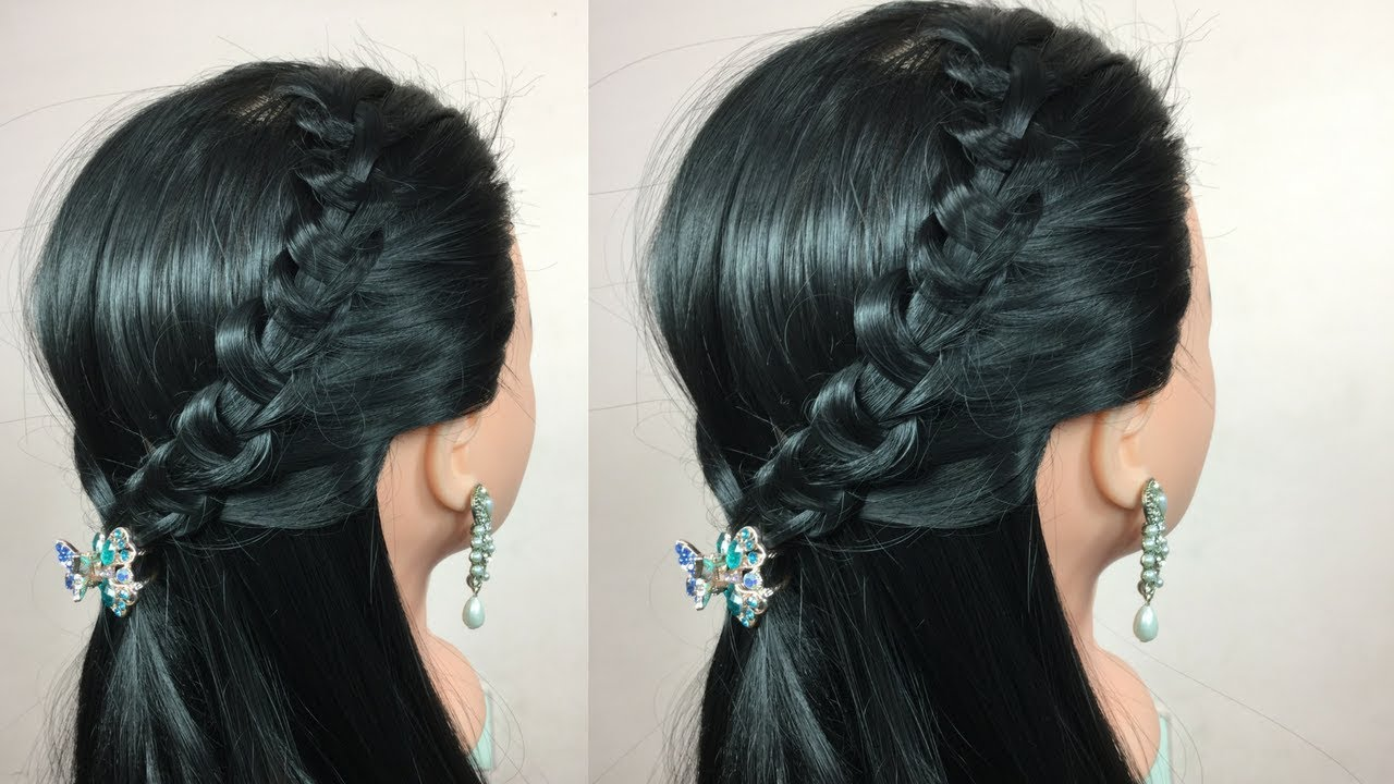Open Hair Easy Hairstyle VideoWaterfall HairstyleHairStylesandFashions
