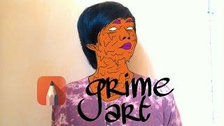 Cara Membuat Grime Art | Wajah Zombie di Autodesk Sketchbook Android