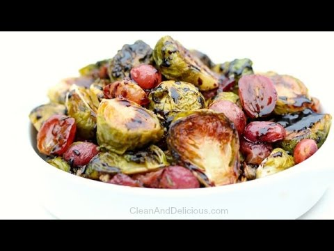 Roasted Brussels Sprouts + Grapes - A Thanksgiving Recipe