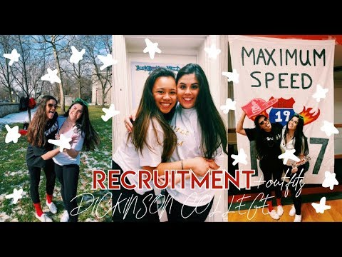 SORORITY RECRUITMENT VLOG DICKINSON COLLEGE + OUTFITS AND BID DAY!