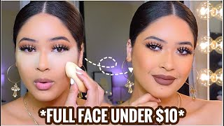FULL FACE NOTHING OVER $10🍂 FALL DRUGSTORE FULL COVERAGE GLAM | AFFORDABLE MAKEUP TUTORIAL + BRUSHES