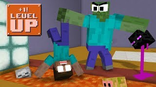 Monster School: LEVEL UP! CHALLENGE - Minecraft Animation