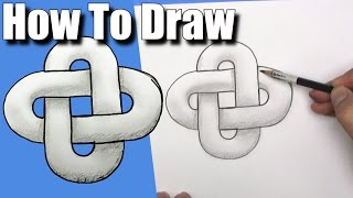 How To Draw a Chain Link - EASY- Step By Step