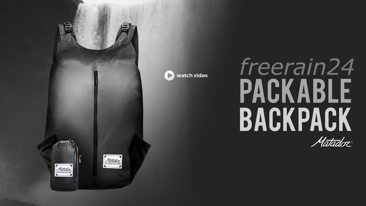 Matador FreeRain24 Packable Backpack - YouTube 0e6e987e04ace