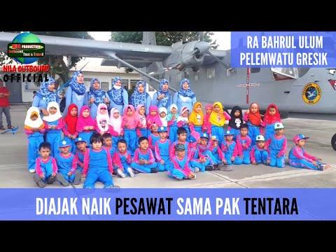 Download Lihat Pesawat TNI Al di Hanggar & Outbound di Rumah Pintar RA BAHRUL ULUM PELEMWATU GRESIK