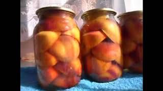 Консервированные персики -самое любимое зимнее лакомство!