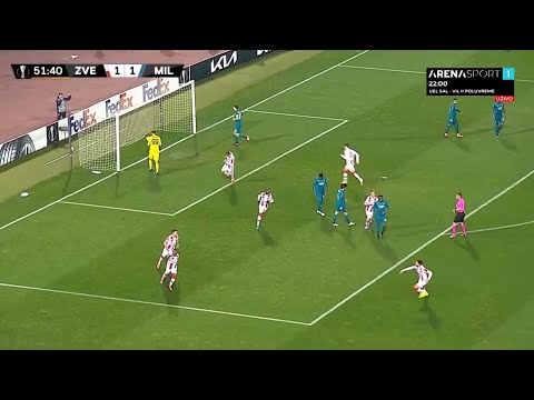 CRVENA ZVEZDA MILAN 1:1, gol Kange iz penala - Arena Sport TV